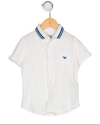Armani Junior Boys' Linen Button-Up Shirt