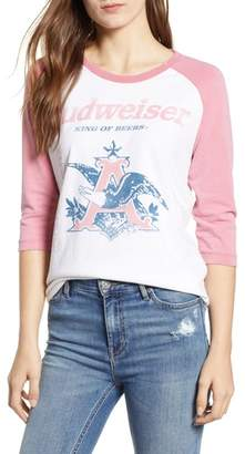 Junk Food Clothing Budweiser Baseball Tee
