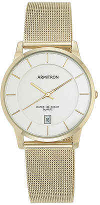 Armitron Mens Gold-Tone Bracelet Watch