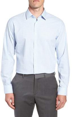 Nordstrom Tech-Smart Trim Fit Stretch Check Dress Shirt