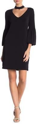 Velvet by Graham & Spencer Shirleen Plain Choker Neck Dress