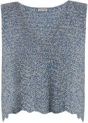 RACHEL COMEY Hewson V-neck crochet top $265 thestylecure.com