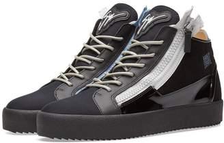 Giuseppe Zanotti Double Zip Deconstructed Mid Sneaker