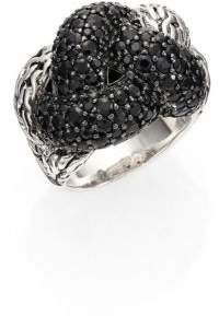 John Hardy Classic Chain Black Sapphire & Sterling Silver Large Braided Ring