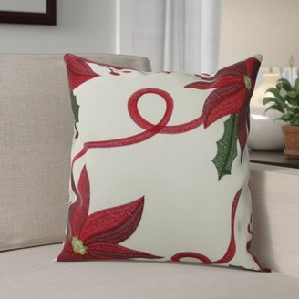 The Holiday Aisle Bloomy Decorative Christmas Throw Pillow Cover The Holiday Aisle