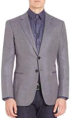 Giorgio Armani Micro Check Wool Sportscoat