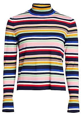 Akris Punto Women's Striped Wool Turtleneck Sweater