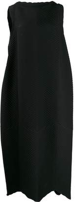 Issey Miyake pleated cocoon dress