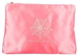 Charlotte Olympia Satin Zip Pouch