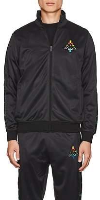Marcelo Burlon County of Milan County of Milan X Kappa Men's Logo-Embroidered Tech-Jersey Track Jacket