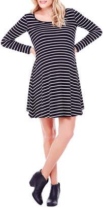 c745c536d3d5e at Rue La La · Ingrid & Isabel Stripe Long Sleeve Trapeze Dress