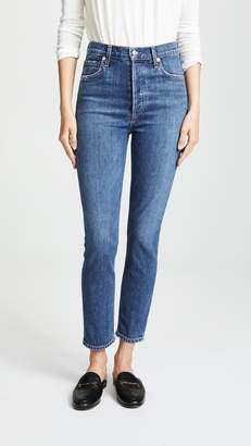 A Gold E AGOLDE Nico High Rise Slim Fit Jeans
