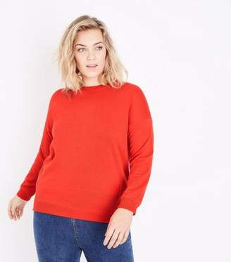 New Look Curves Red Slouchy Sweatshirt