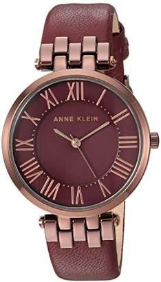 Anne Klein Women's AK/2619BYBN Brown and Leather Strap Watch