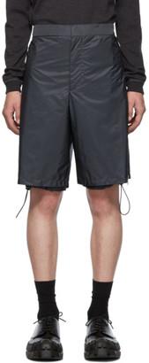 Prada Grey Nylon Side Zip Shorts