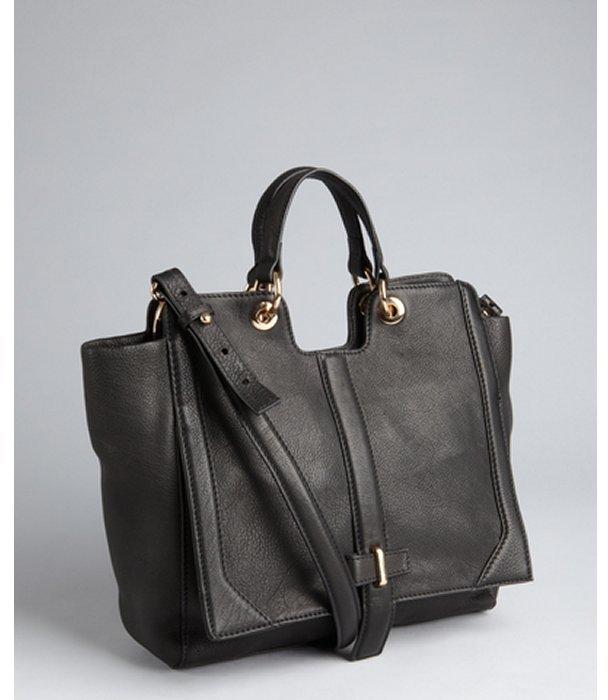 black pebbled leather 'Chelsea' convertible top handle bag