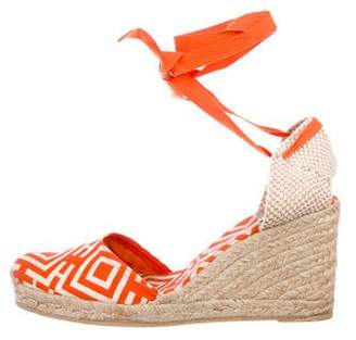 Tory Burch Printed Espadrille Wedges