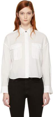 Rag & Bone White Cropped Mason Shirt