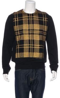 Alexander McQueen Plaid Metallic Sweatshirt