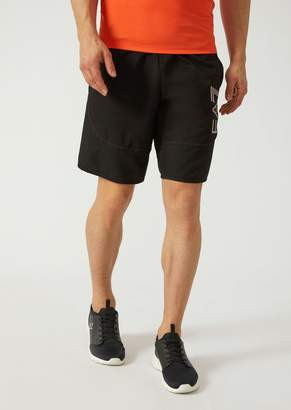 Emporio Armani Ea7 Ventus 7 Technical Fabric Shorts With Perforated Inserts