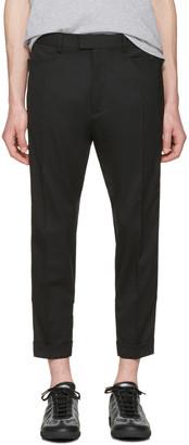 Dsquared2 Black Glam Head Checkerboard Trousers $935 thestylecure.com