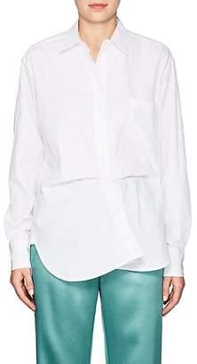 Sies Marjan Women's Sander Crinkled Cotton-Blend Poplin Shirt
