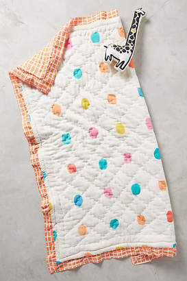Anthropologie Dotingly Dotted Toddler Quilt & Playmat $98 thestylecure.com