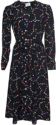 Harley Viera Newton Exclusive Lauren Heart Long Sleeve Midi Dress