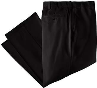 Haggar Men's Big & Tall Cool 18 Hidden Expandable-Waist Plain-Front Pant