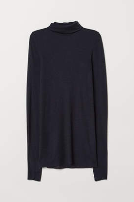 H&M Cashmere-blend Turtleneck - Blue