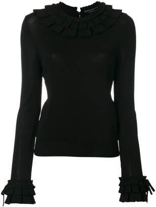 Ermanno Scervino ruffle trim sweater