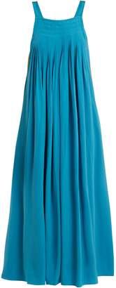 Tibi Areille pleated silk-crepe dress