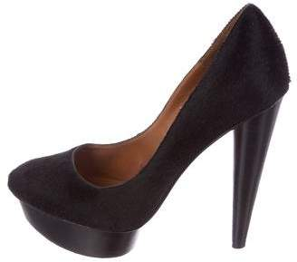 Elizabeth and James Ponyhair Platform Pumps