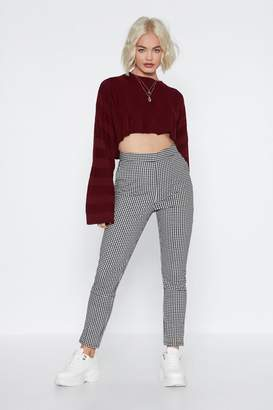 Nasty Gal Make It Fair Gingham Trousers