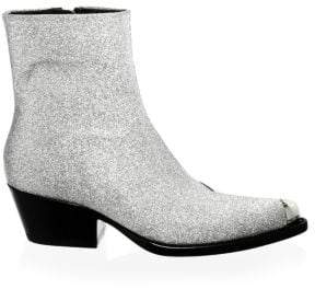 Calvin Klein Terrane Diamond Glitter Leather Booties