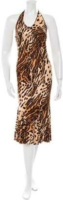 Dolce & Gabbana Printed Halter Dress