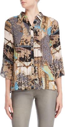 Spense Printed Bell Sleeve Shirt