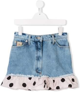Natasha Zinko Kids TEEN frill hem denim skirt