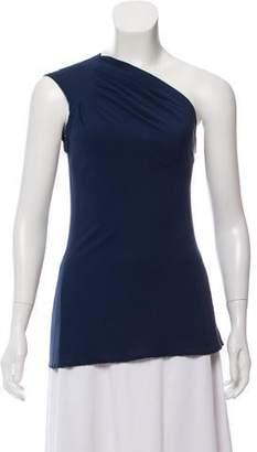 Yigal Azrouel One-Shoulder Silk Top