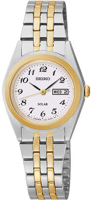 Seiko Womens Two-Tone Solar Watch SUT116