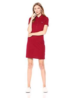 5dcaa4f766 at Amazon.com · Lacoste Women s Stretch Cotton Short Sleeve Mini Piqué Polo  Dress