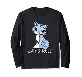 "PINK Cute ""Cats Rule ""T Shirt Sweats Hoodies gifts"
