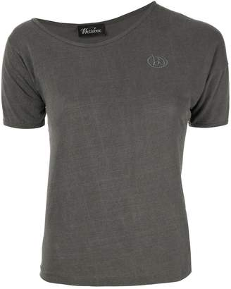we11done asymmetric neck T-shirt