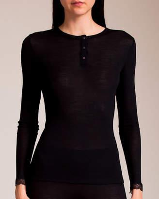Hanro Woolen Lace Henley Shirt