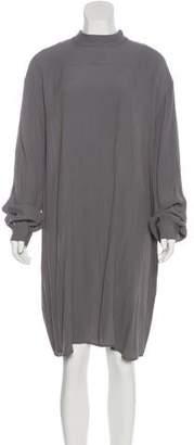 Ganni Long Sleeve Knee-Length Dress