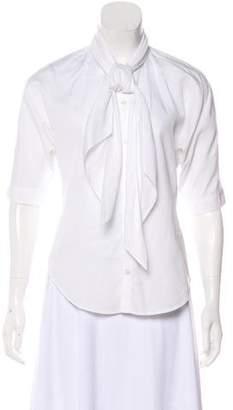 Ralph Lauren Short Sleeve Button-Up Blouse
