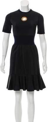 Louis Vuitton Wool Metallic Dress