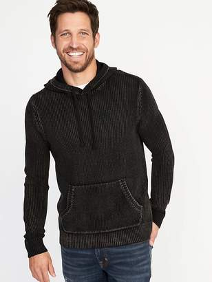 Old Navy Garment-Dyed Sweater Hoodie for Men
