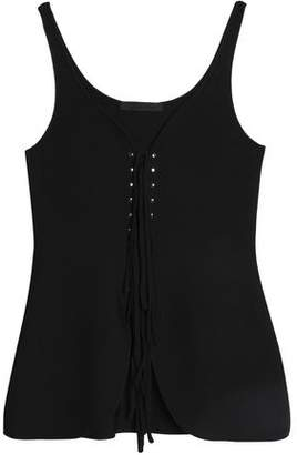 Alexander Wang Lace-Up Stretch-Ponte Top