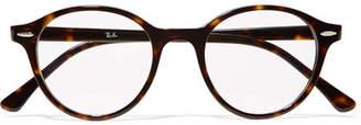 Ray-Ban Dean Round-frame Tortoiseshell Acetate Optical Glasses